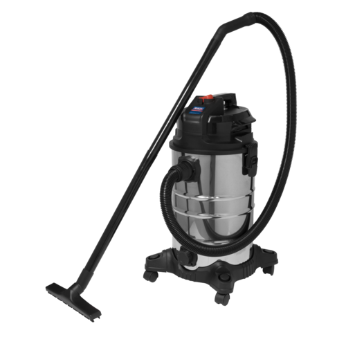 Vacuum Cleaner (Low Noise) Wet & Dry 30L 1000W/230V - Sealey - PC30LN