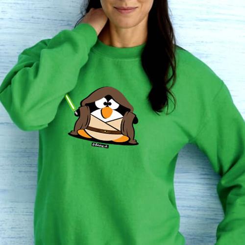 'Fat Jedi Penguin' Sweatshirt