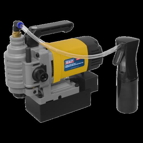 Low Profile Magnetic Drilling Machine 35mm 110V - Sealey - MAG35110VLP