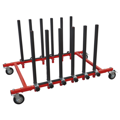 Panel Storage Rack Mobile Holds 5 Panels - Sealey - MK76