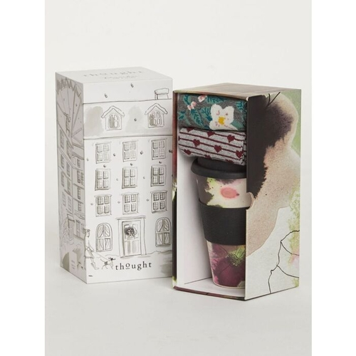 Thought Floral Bamboo Cup & Socks Gift Set