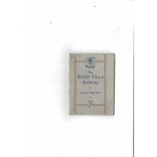 Aston Villa Official Football Handbook 1930/31