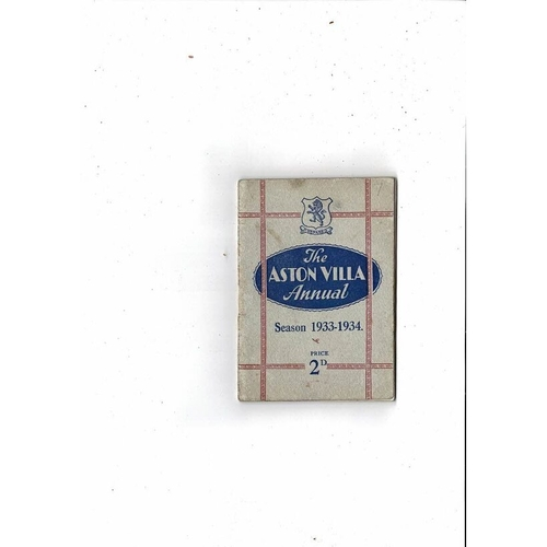 Aston Villa Official Football Handbook 1933/34