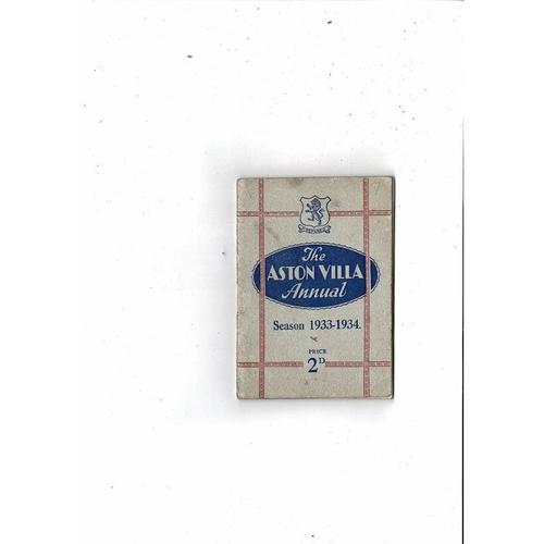 Aston Villa Official Football Handbook 1933/34
