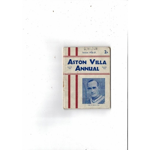 Aston Villa Official Football Handbook 1936/37