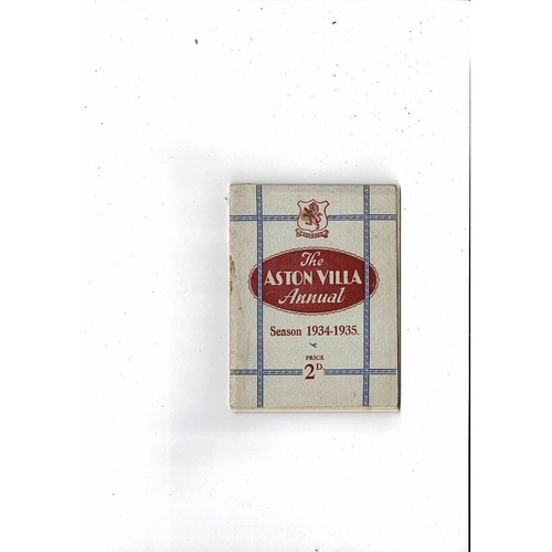 Aston Villa Official Football Handbook 1934/35