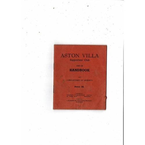 Aston Villa Supporters Club Football Handbook 1947/48
