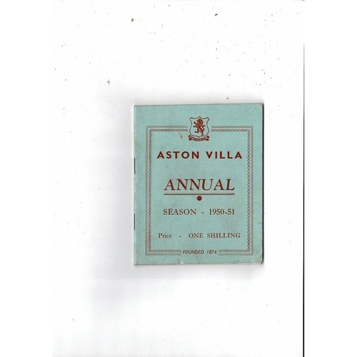 Aston Villa Official Football Handbook 1950/51