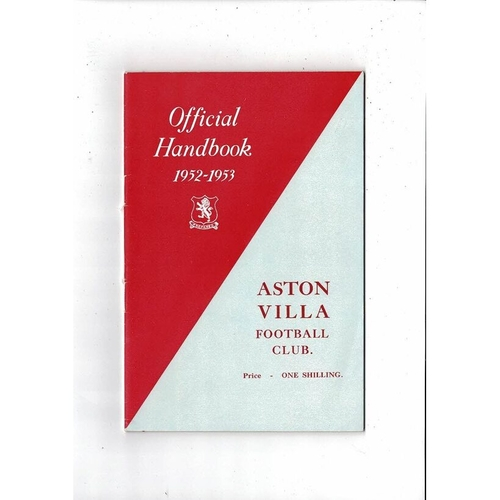 Aston Villa Official Football Handbook 1952/53