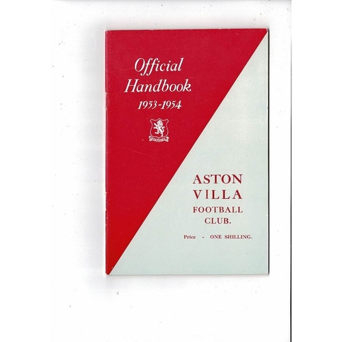 Aston Villa Official Football Handbook 1953/54