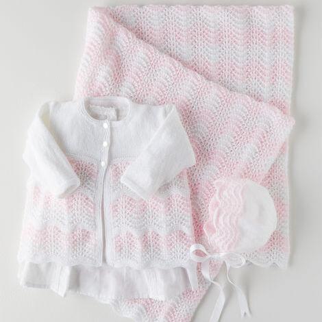 3-Ply Matinee Jacket, Bonnet & Blanket Pattern 5361