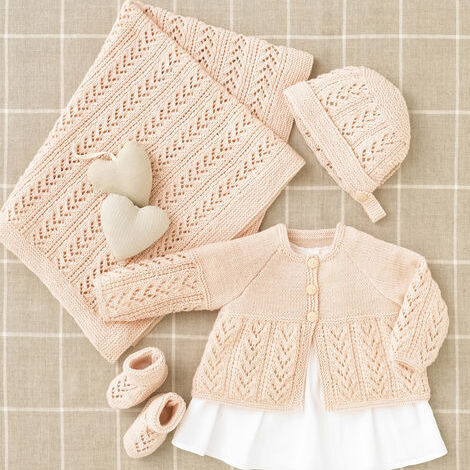 4-Ply Baby Jacket & Accessories Pattern 4508