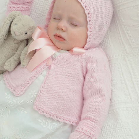 4-Ply Baby Cardigan & Accessories Pattern 1818