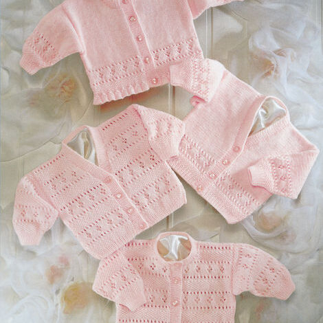 4-Ply Baby Cardigan Pattern 3941