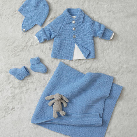 4ply baby jacket and accessories pattern 4686