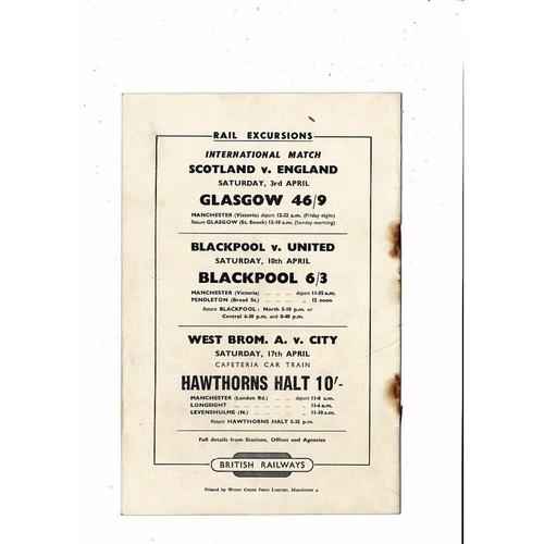 1954 Preston v Sheffield Wednesday FA Cup Semi Final Football Programme @ Man City
