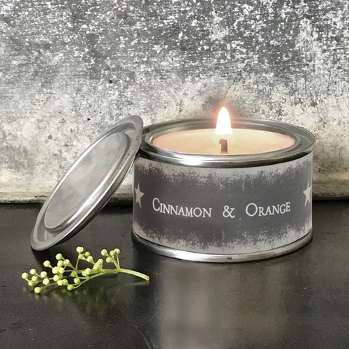 Tin Candle Cinnamon and Orange