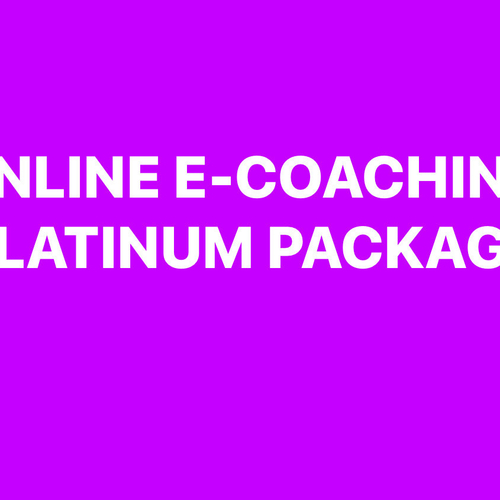 Platinum E Coaching package
