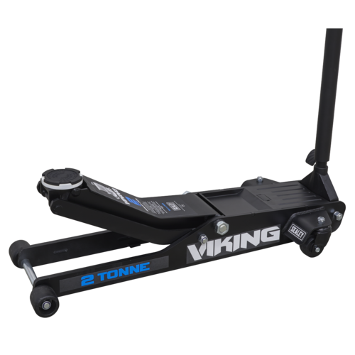 Viking Low Entry Long Reach Trolley Jack 2tonne with Rocket Lift - Sealey - 2100TB