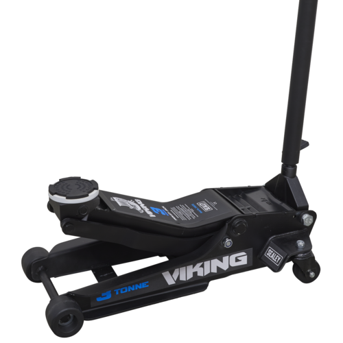 Viking 3tonne Low Entry Trolley Jack with Rocket Lift - Sealey - 3100TB