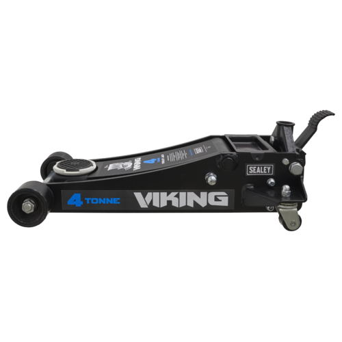 Viking Tyre Bay Trolley Jack 4tonne Low Entry with Rocket Lift - Sealey - 4040TB