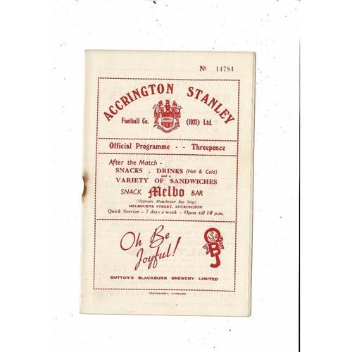 1953/54 Accrington Stanley v Halifax Town Football Programme 26th Dec