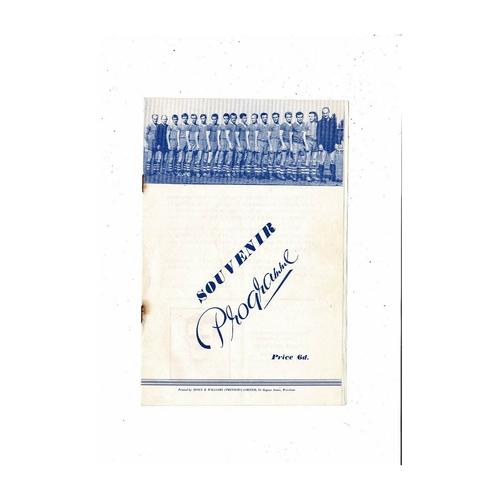 Borough United v Slovan Bratislava European Cup Winners Cup Football Programme 1963/64 @ Wrexham