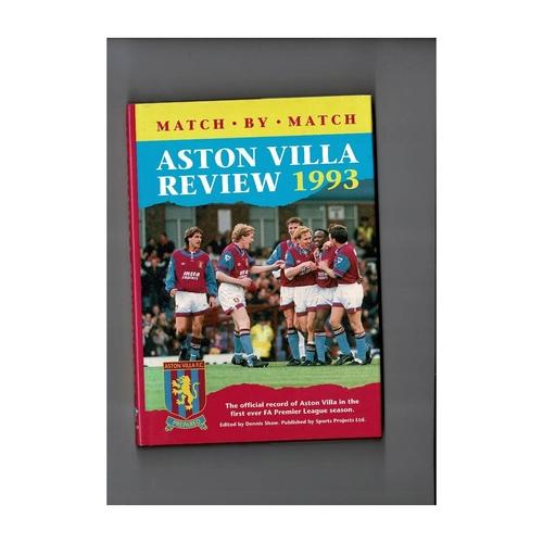 Aston Villa Review 1993 Hardback Football Book