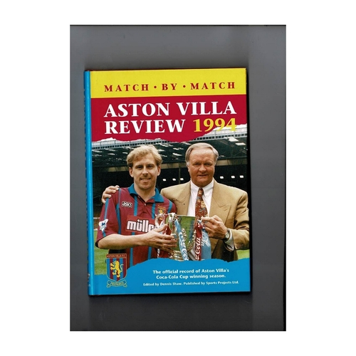 Aston Villa Review 1994 Hardback Football Book