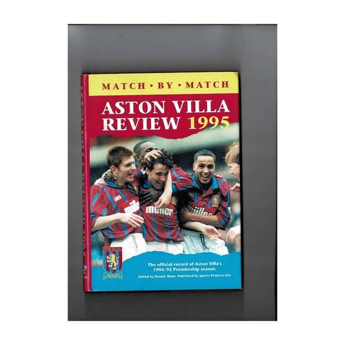 Aston Villa Review 1995 Hardback Football Book