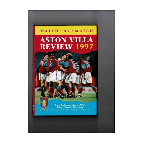 Aston Villa Review 1997 Hardback Football Book