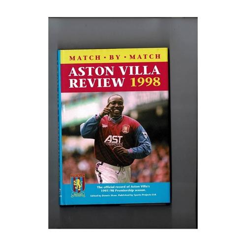 Aston Villa Review 1998 Hardback Football Book