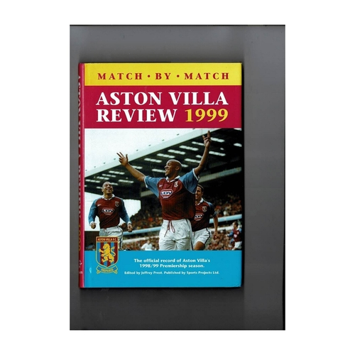 Aston Villa Review 1999 Hardback Football Book
