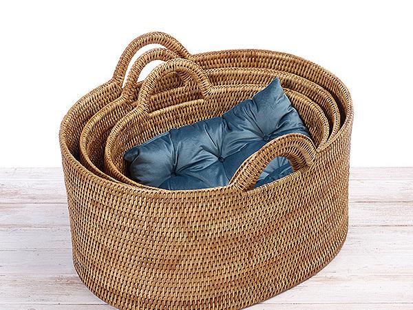 Rattan Oval Family Storage Basket
