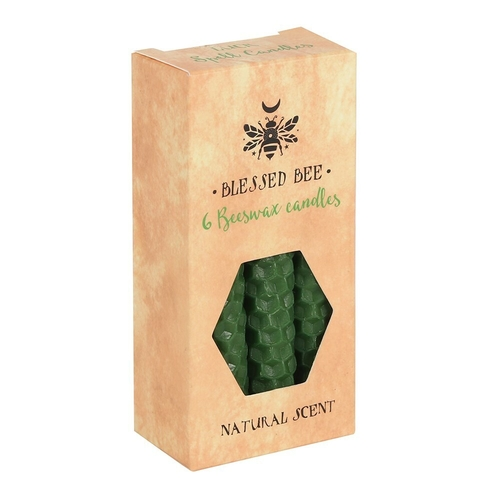 Green Beeswax Spell Candles (6 Pack)