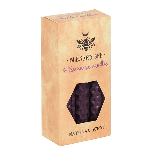 Purple Beeswax Spell Candles (6 Pack)