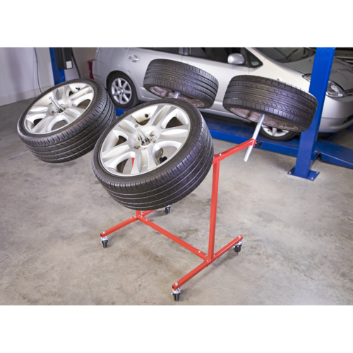 Alloy Wheel Painting/Repair Stand Heavy-Duty - 4 Wheel Capacity - Sealey - MK71
