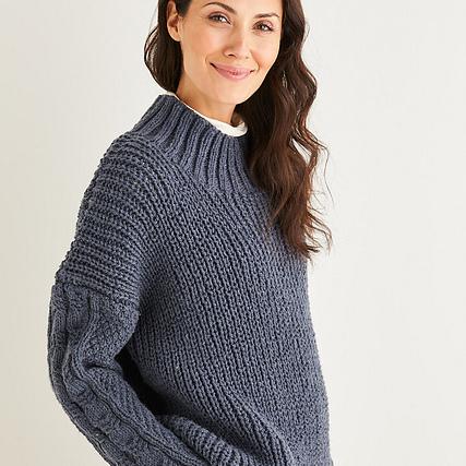 Aran sweater pattern 10225