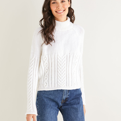 Aran sweater pattern 10221