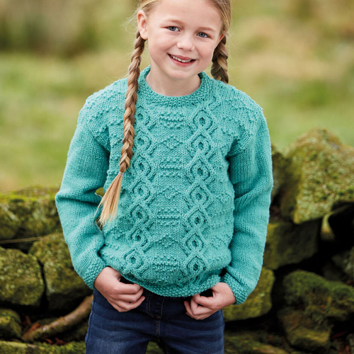 Aran sweater pattern 2511