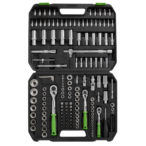 "Socket Set 171pc 1/4"", 3/8"" & 1/2""Sq Drive WallDrive® Metric - Sealey - S01211"