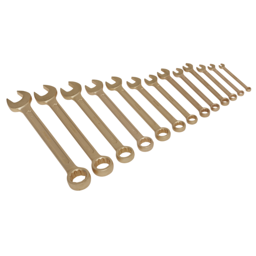 Combination Spanner Set 13pc 8-32mm Non-Sparking - Sealey - NS001