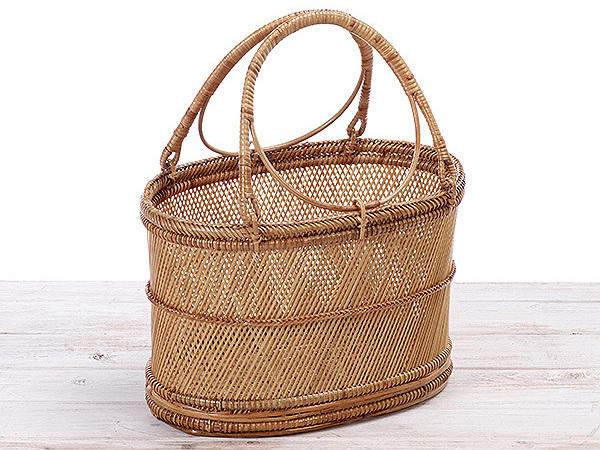 Sayama Rattan Lunch Basket/ picnic basket/ beach basket