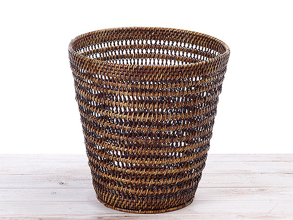 Rattan Open Weave  Paper Bin Large, Medium and Small