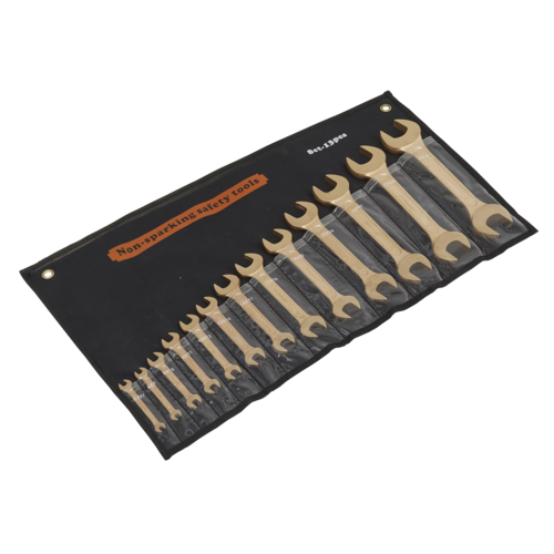 Double Open-End Spanner Set 13pc Non-Sparking - Sealey - NS015