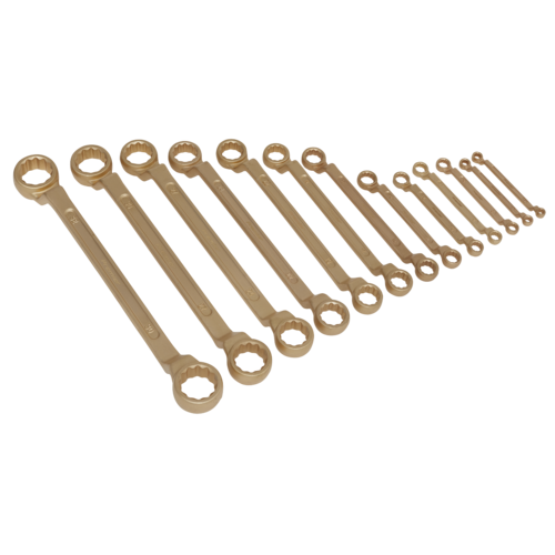 Double End Ring Spanner Set 13pc 5.5-32mm Non-Sparking - Sealey - NS016