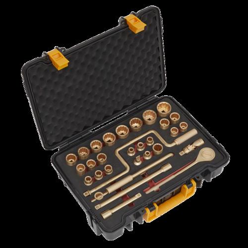 "Socket Set 32pc 1/2""Sq Drive Non-Sparking - Sealey - NS039"