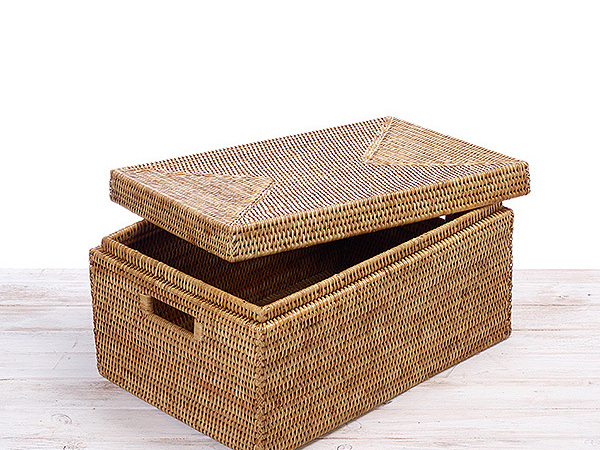 Tote Rectangular Storage Box with Lid Large and Small