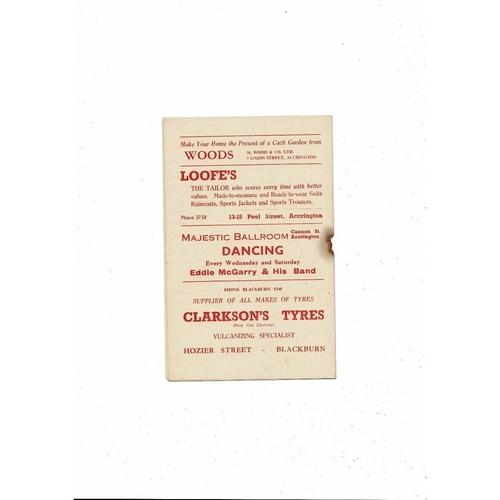 Accrington Stanley v Port Vale Friendly Football Programme 1956/57