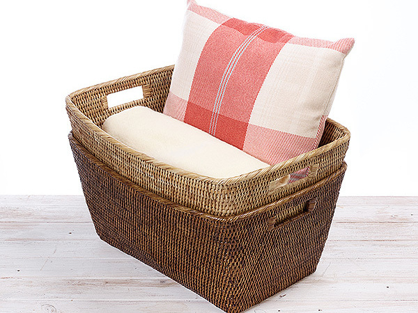 Rattan Large Family Blanket  Storage Basket
